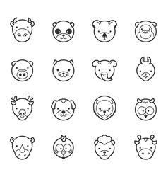 Set of animal icons eps10 format vector