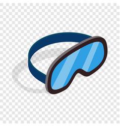 Skiing mask isometric icon vector