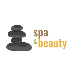 Spa health relaxation care of a logo stones for vector