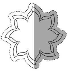 sticker monochrome thin contour of flower icon vector image