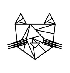 Tiger low poly style vector