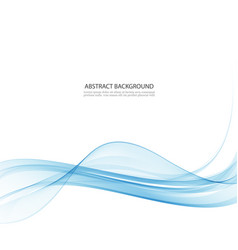 transparent blue abstract wave on white background vector image vector image