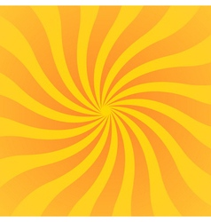 Yellow orange rays poster wavy vector image vector image