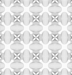 Slim gray hatched crosses vector