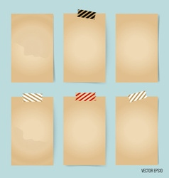 Blank old note papers ready for your message vector