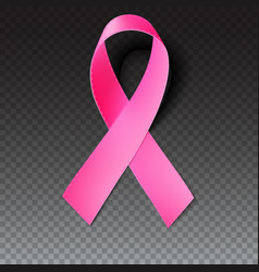 Pink breast cancer awareness ribbon vector
