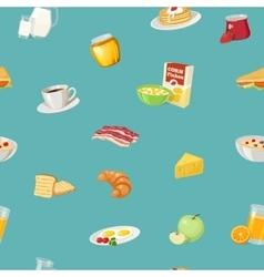 Breakfast food pattern vector