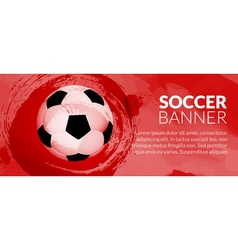 Soccer football poster design template Soccer vector image