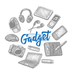 Electronic gadgets collection vector
