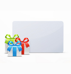 Three glossy gift boxes vector