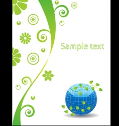 Nature template page vector
