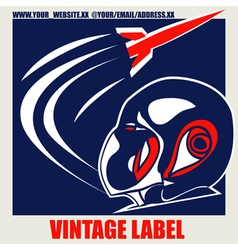 Retro space label vector