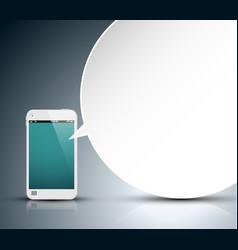 Mobile communication technology - concept vector