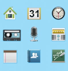 Typical smartphone apps icons vector