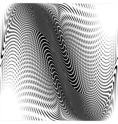 Design monochrome wave movement background vector