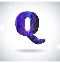 Watercolor letter q vector