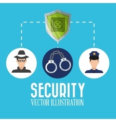 Security cartoon  design vector