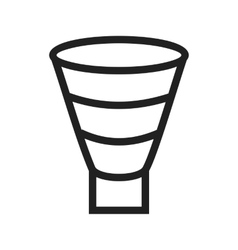 Funnel Chart vector image