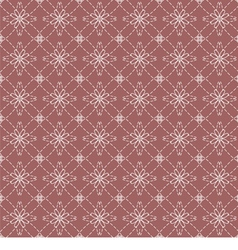 White vintage flowers on dark pink background vector