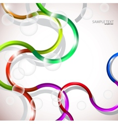 abstract curves background vector image
