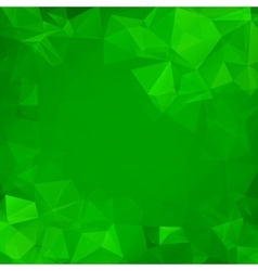 Abstract green geometric triangle background vector