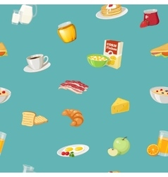 Breakfast Food Pattern vector image