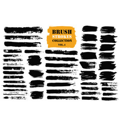 brush stroke paint boxes set vector image vector image