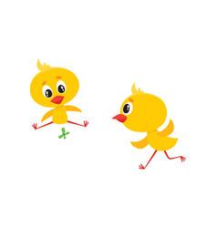 Cartoon cute chicken characters set vector