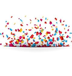 Confetti celebration background vector image