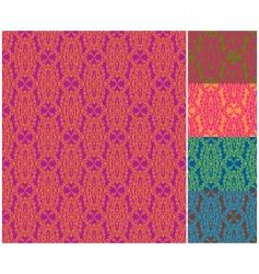 damask wallpaper patterns vector image