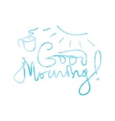 Good morning lettering vector