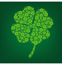Green Clover Symbol vector image vector image