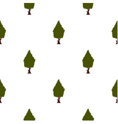 Green tree pattern flat vector