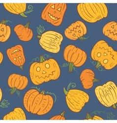 Halloween Pumpkin Pattern vector image vector image