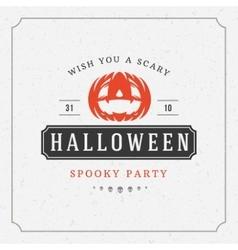 Happy Halloween Background and Pumpkin vector image