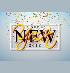 happy new year 2018 with colorful vector image