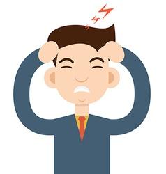 Headache attack head pain vector