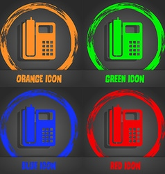 Home phone icon fashionable modern style in the vector