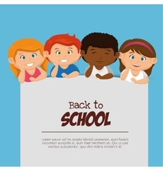 kids back to school design vector image vector image