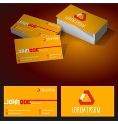 Modern minimalist standard business card vector
