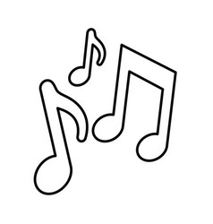 Musical notes icon vector