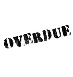Overdue rubber stamp vector