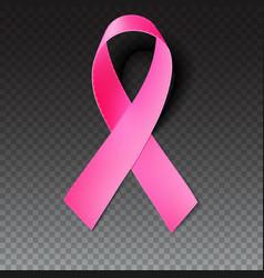 Pink breast cancer awareness ribbon vector