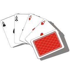 Playing card set 01 vector image
