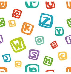seamless pattern - funny english alphabet in color vector image vector image