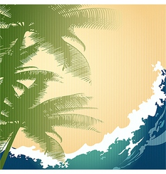 Seashore background vector image vector image