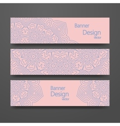 Set of banners with trendy colors vector