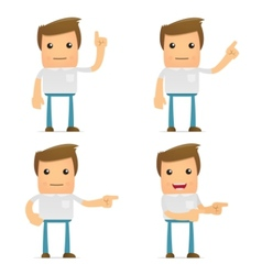 set of funny cartoon casual man vector image vector image