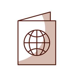 Shadow passport cartoon vector