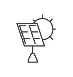 solar battery line icon sign vector image
